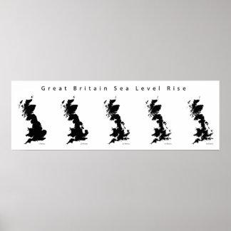 Great Britain Sea Level Rise Poster