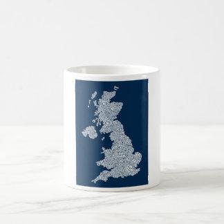 Great Britain UK City Text Map Coffee Mug