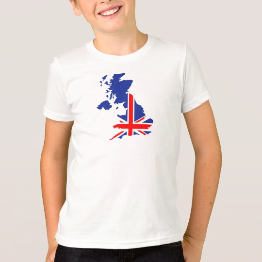 Great Britain UK map flag T-Shirt