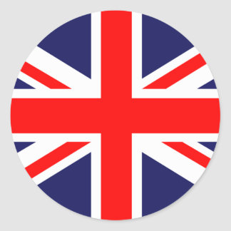 Great Britain Union Jack (pack of 6/20) Classic Round Sticker