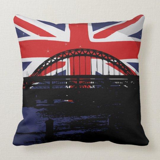 Great Britain United Kingdom Flag Theme Throw Pillow