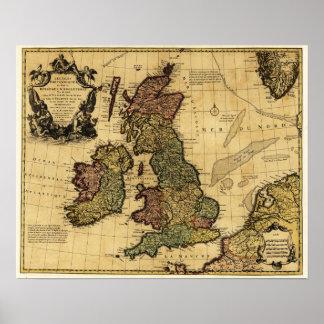 Great BritainPanoramic MapGreat Britain Poster