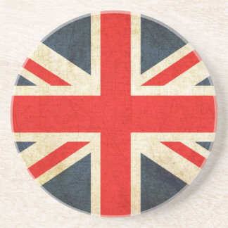 Great Britian Flag in Grunge Coaster