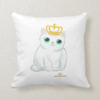 Great British Kittens - Cute white cat cushion