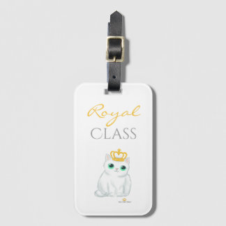 Great British Kittens - Cute white cat luggage tag