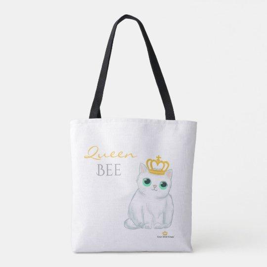 Great British Kittens - Cute white cat tote bag