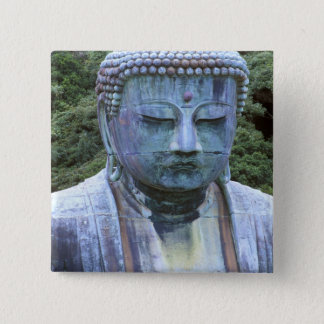 Great Buddha Detail, Kotokuji Temple, 2 Inch Square Button