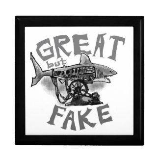 great but fake grey keepsake box