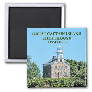 Great Captain Island Lighthouse Connecticut Magnet
