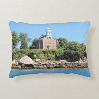 Great Captain Island Lighthouse Connecticut Pillow