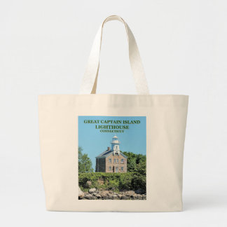 Great Captain Island Lighthouse, CT Tote Bag