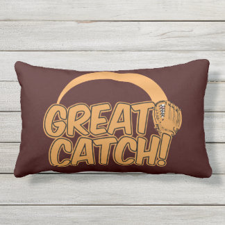GREAT CATCH! custom color throw pillow