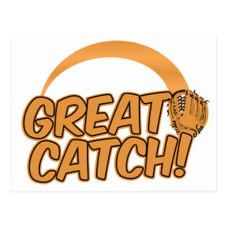 GREAT CATCH! postcard