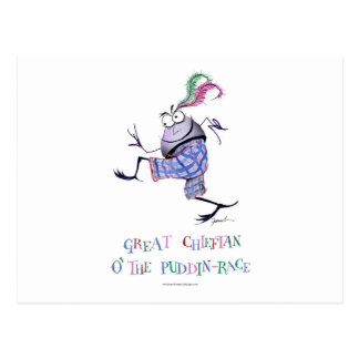 great  chieftan o'the puddin-race postcard
