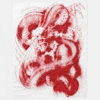 Great Chinese Emperor Dragon Blood Acrylic Fleece Blanket