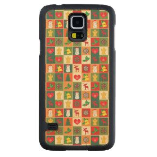 Great Christmas Pattern Carved Maple Galaxy S5 Case