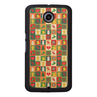 Great Christmas Pattern Wood Phone Case