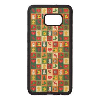 Great Christmas Pattern Wood Samsung Galaxy S6 Edge Case