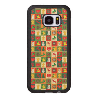 Great Christmas Pattern Wood Samsung Galaxy S7 Case