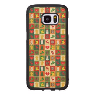 Great Christmas Pattern Wood Samsung Galaxy S7 Edge Case