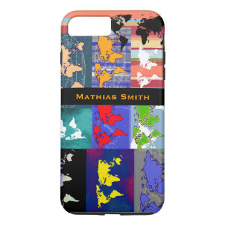 great colorful world maps iPhone 7 plus case