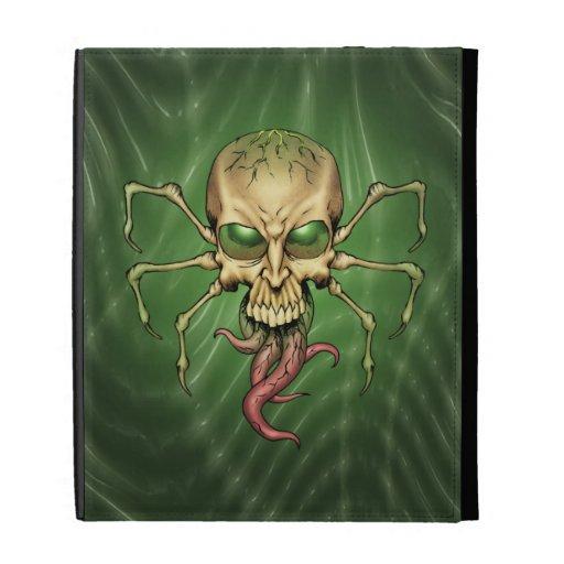 Great Cthulhu Alien Spider Skull Lovecraftian Art iPad Folio Cover