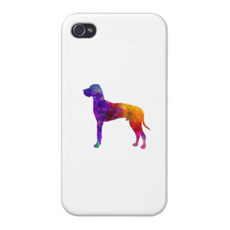 Great dane 01 in watercolor-2 iPhone 4 case