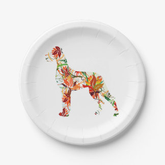 Great Dane Abstract 7 Inch Paper Plate