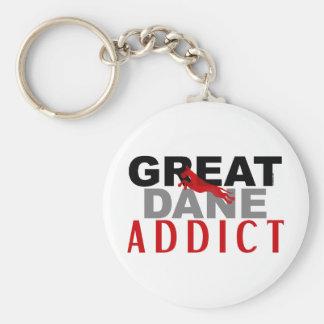 Great Dane Addict Keychain