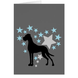 Great Dane and a Star Heart Card