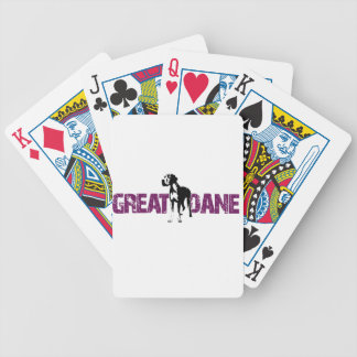 Great Dane Bicycle Playing Cards
