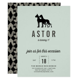 Great Dane Birthday Invitation