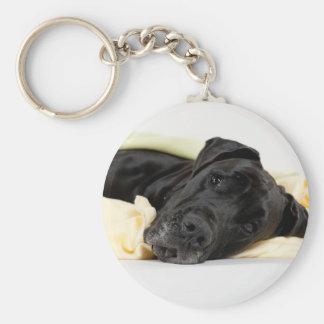 Great dane - black/German Dogge - black Keychain