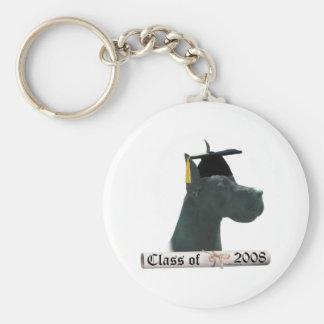 Great Dane black Grad08 Keychain