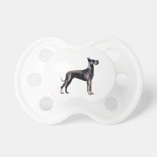 Great Dane - black standing - cropped ears Pacifier