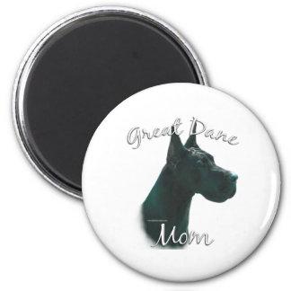 Great Dane (blk) Mom 2 Magnet