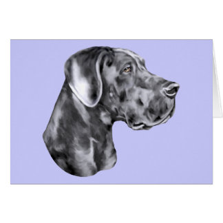 Great Dane Blue Uncropped Card