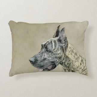 Great Dane (Brindle) Decorative Pillow