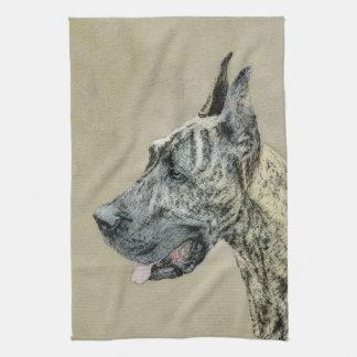 Great Dane (Brindle) Kitchen Towel