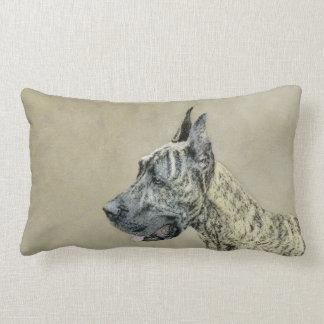 Great Dane (Brindle) Lumbar Pillow