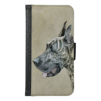 Great Dane (Brindle) Painting - Original Dog Art Samsung Galaxy S6 Wallet Case