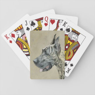Great Dane (Brindle) Poker Deck