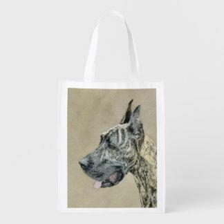 Great Dane (Brindle) Reusable Grocery Bag
