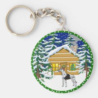 great dane cabin keychain
