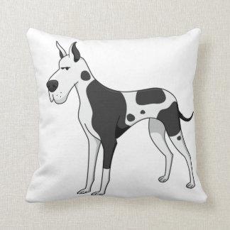 great dane cartoon 2 throw pillow