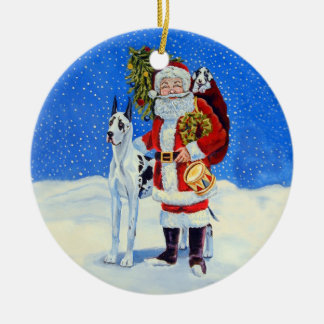 Great Dane Circle Ornament