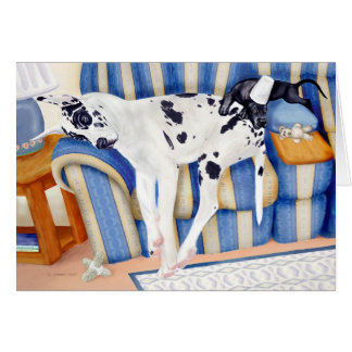 Great Dane Couch Taters Card