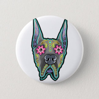 Great dane - cropped ear edition - day of th 2 inch round button