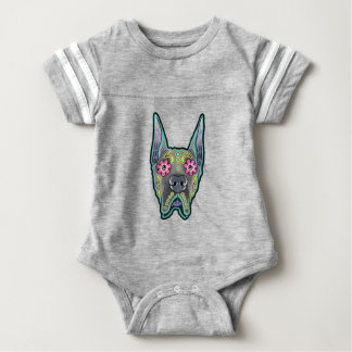 Great dane - cropped ear edition - day of th baby bodysuit