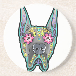 Great dane - cropped ear edition - day of th drink coasters